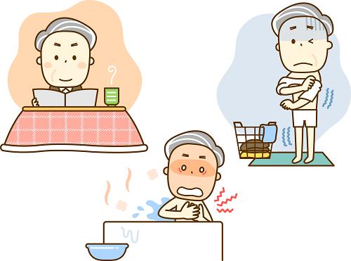 高齢者の冬のお風呂は要注意!危険なヒートショックとは?原因と症状