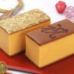 烏骨鶏カステラ。金箔を使っためでたいお菓子 お祝い事に