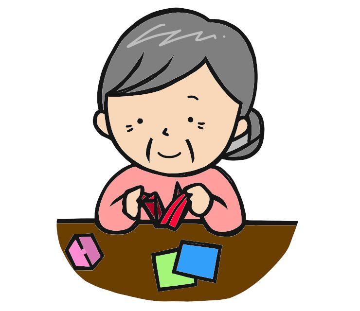 高齢者認知症予防 折り紙
