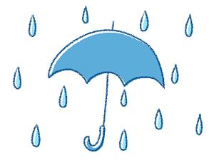 かわいい傘のイラスト画像