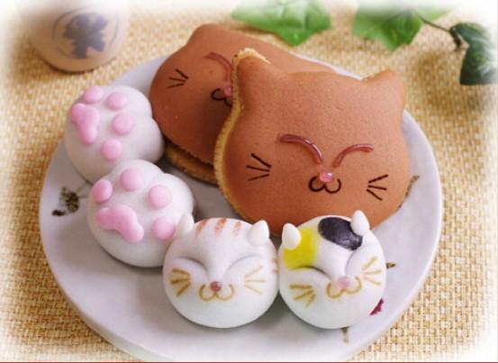 猫の和菓子