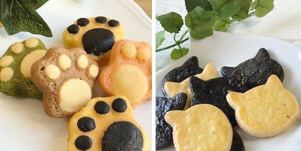 猫クッキーと猫マドレーヌ