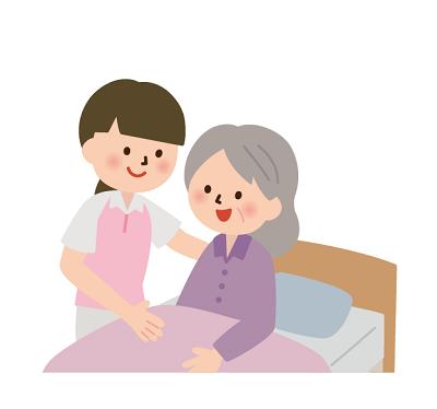 介護職員と高齢者