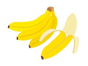 バナナのイラスト画像