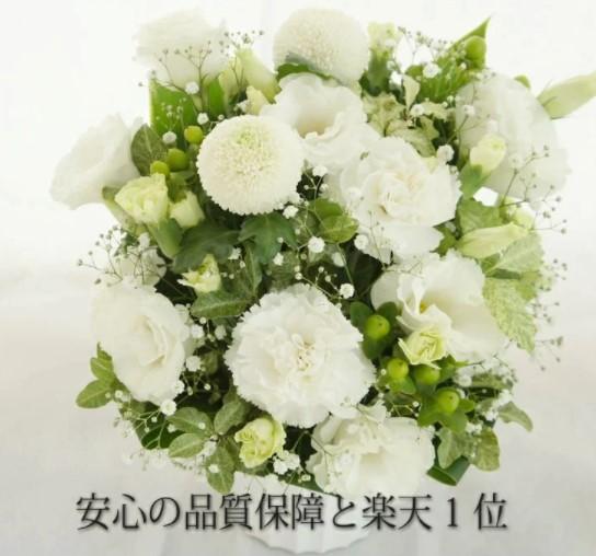仏壇用花の日の白いカーネーション