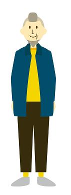 おしゃれなシニア男性のイメージ画像