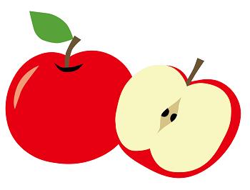 林檎のイラスト画像